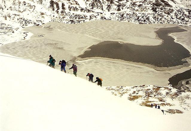 Winter skills day at Loch Skeen