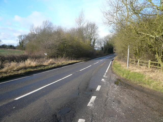 Pull-in view of B6417 near Scarcliffe