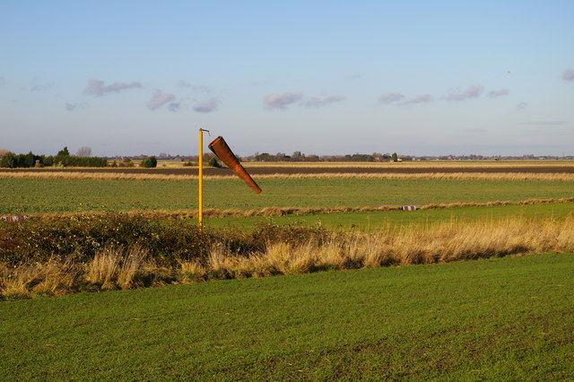 Marshland Airport windsock and runway