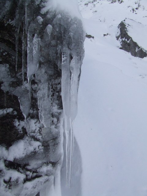 Icicles in Corrie Fee