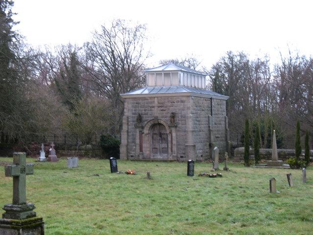 Graveyard at Lartington Hall