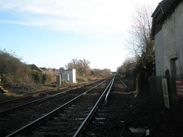 Looking south east from level crossing in Salthill Road