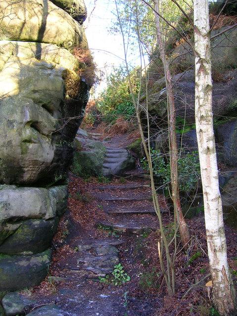 Steps, Harrison's Rocks