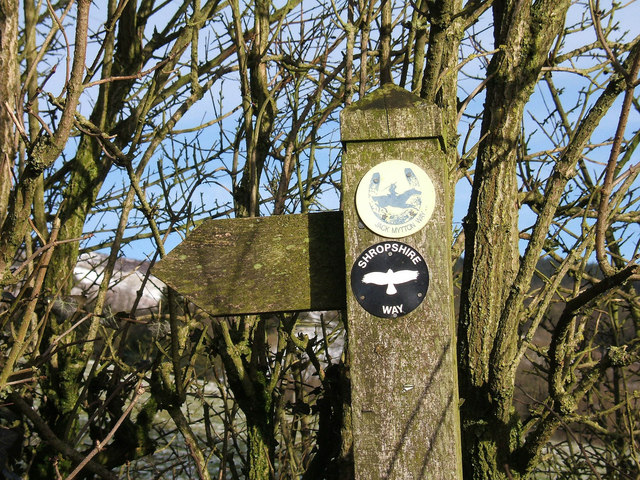 Close up of waymarker for Jack Mytton Way