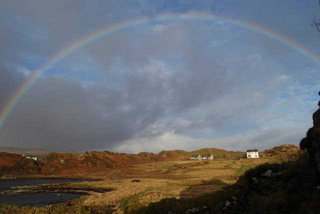 From Dunyvaig Castle to nearby houses