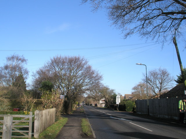 Looking down Salthill Road