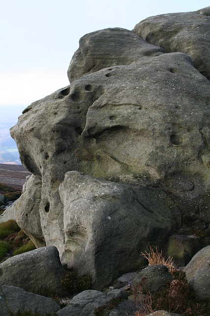 Weathered Boulder on Simons' Seat