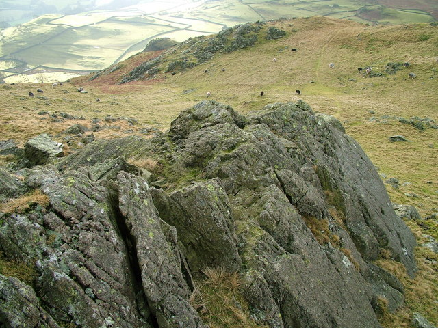 South East slopes of Great Stickle