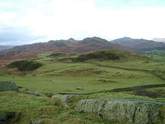 Fields on Dunnerdale Fell