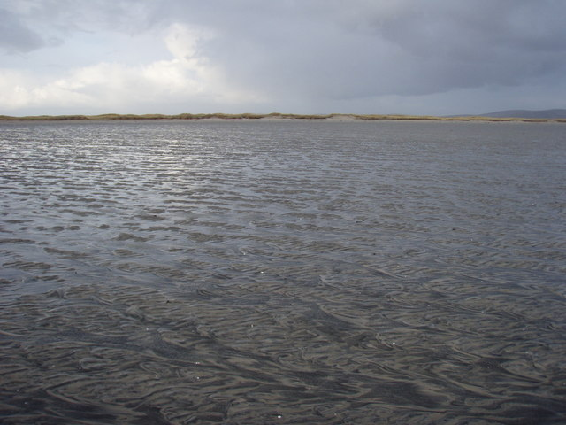 On the exposed sand looking towards Baile Sear