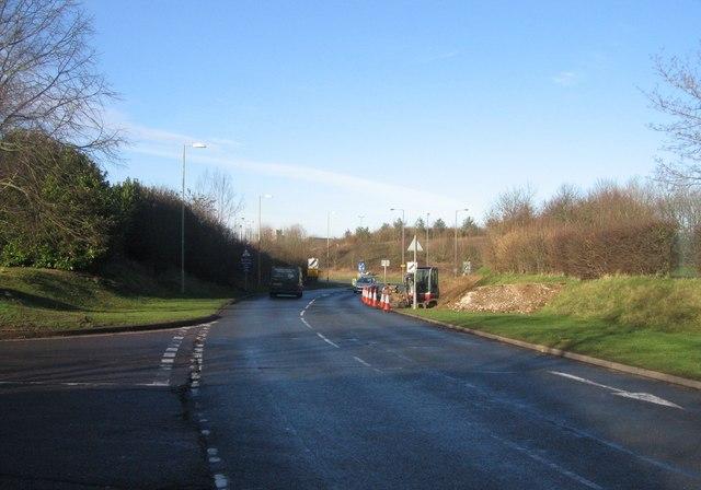 Oakridge Road just before the Aldermaston roundabout