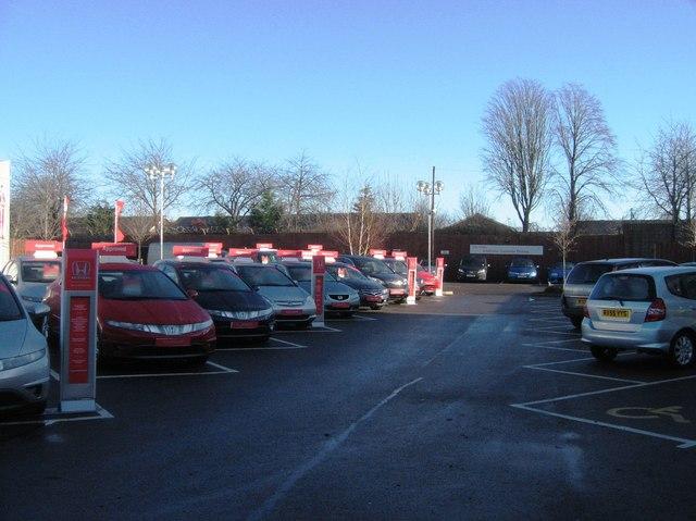 Honda sales car park