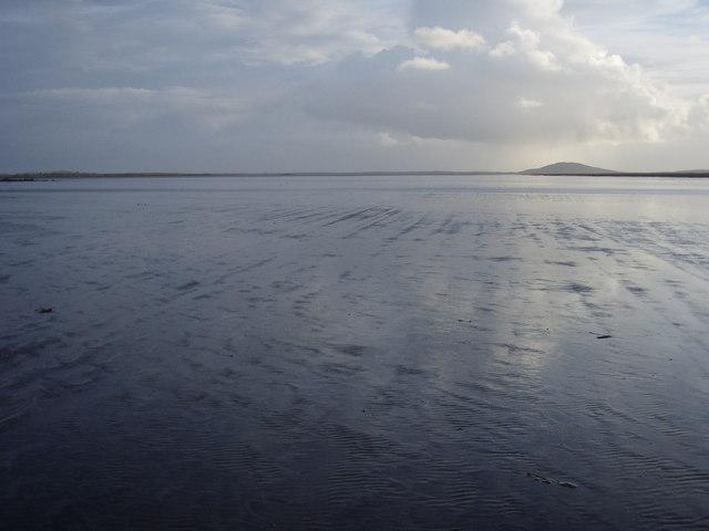 The bay off the east coast of Baile Sear
