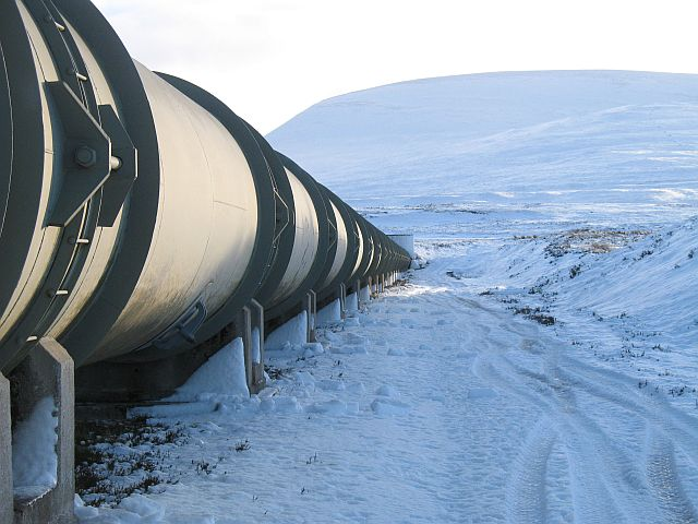 Cuaich Power station pipeline