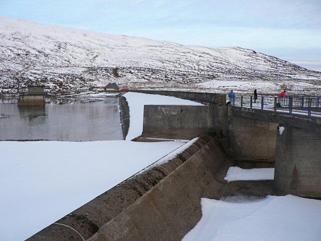Loch Turret dam spillway