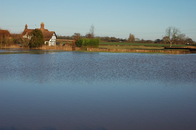 Floodwater at Moat Farm, Baughton