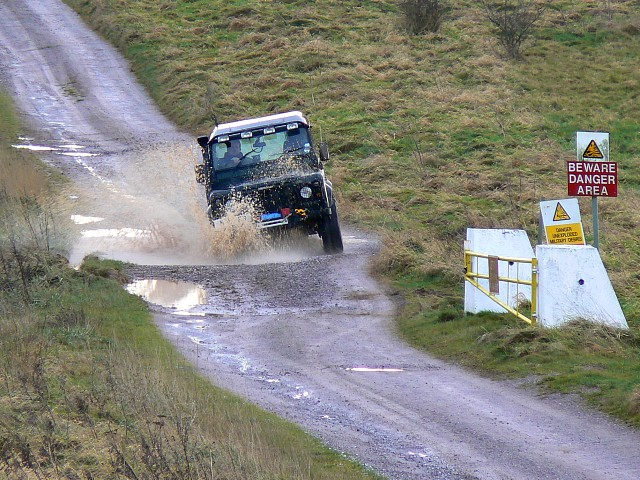 Landrover on the byway near Chirton Down