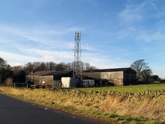 Telecoms mast on Hartcliff Hill