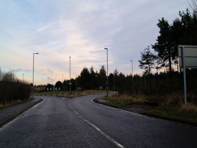 The 'new' Flouch roundabout