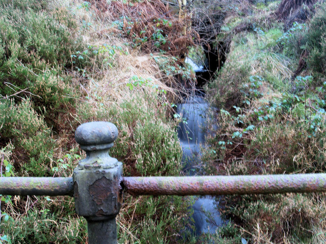 Culvert under Private Road carrying Fair Vage Gutter from the Northern slopes of Bleaklow.