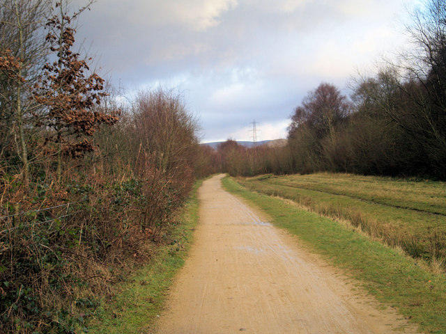The Trans Pennine Trail through Longendale