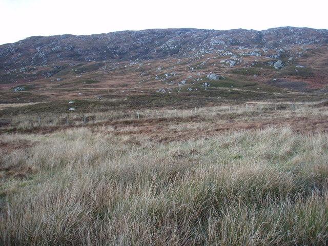 Moorland looking towards Easabhal