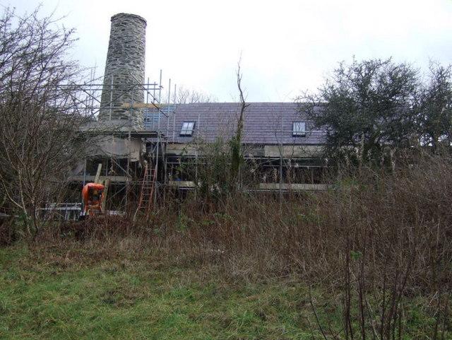 Llanfyrnach mine: boiler house