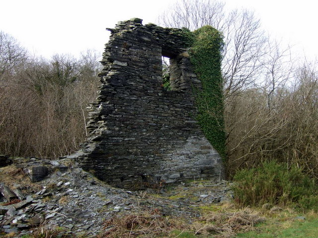 Llanfyrnach mine:  old engine house