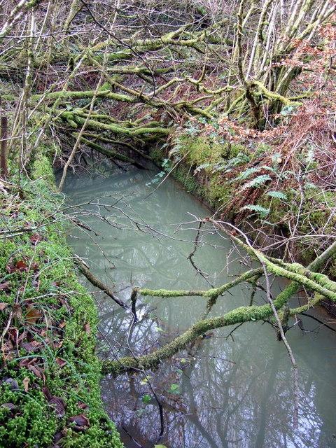 Llanfyrnach mine:  waterwheel pit