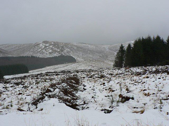 Winter view across Glen Devon