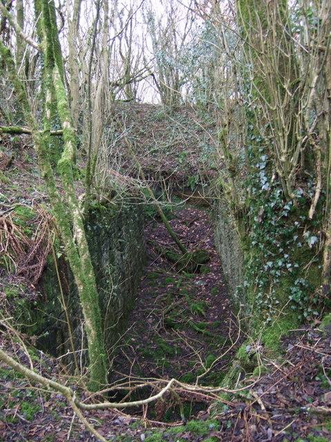 Llanfyrnach mine:  machine pit