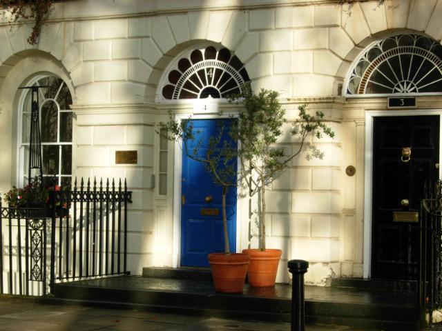 Doorways in Fitzroy Square