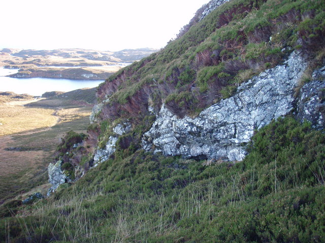 Mini crag line on east ridge of Hairtebreac