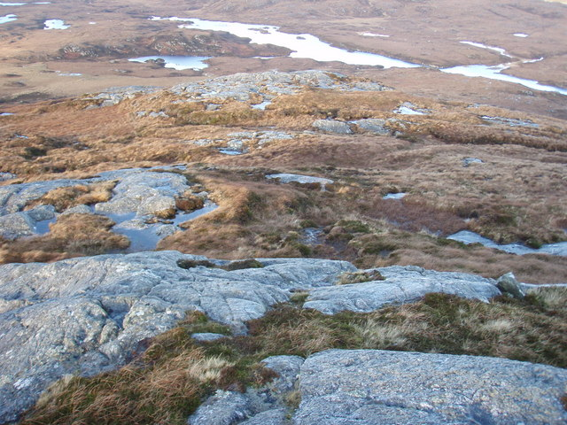 Looking down the slopes of Hairtebreac