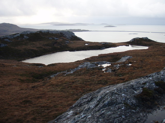 Small lochan just below summit of Roineabhal