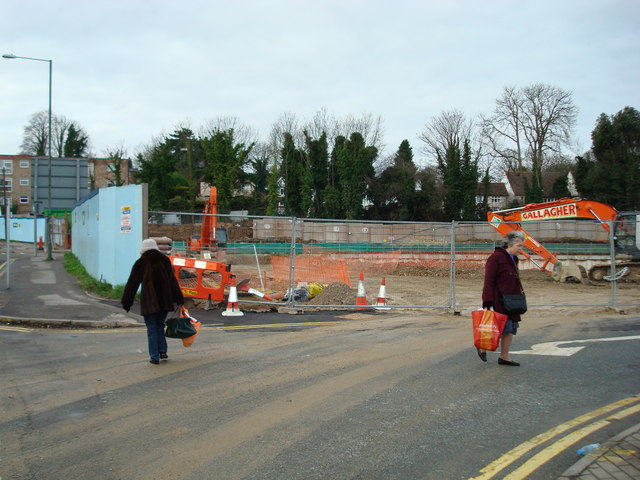 Site of future Tesco store, Station Road Orpington