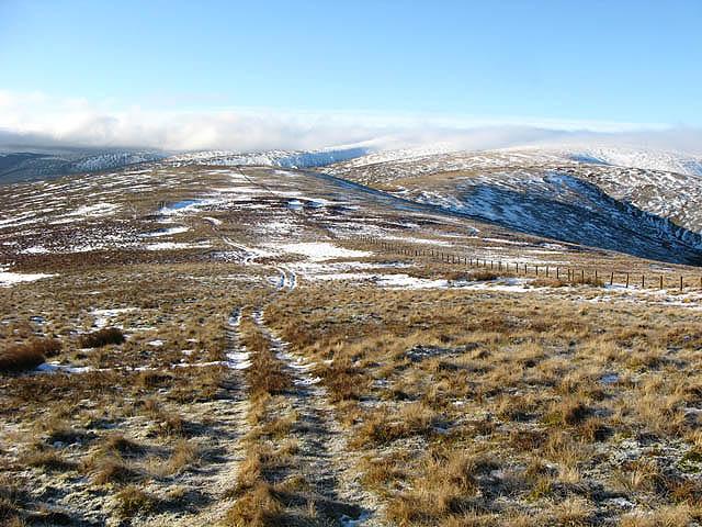 A grass track on Peniestone Knowe