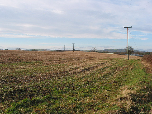 Stubble field by the Ledbury bypass