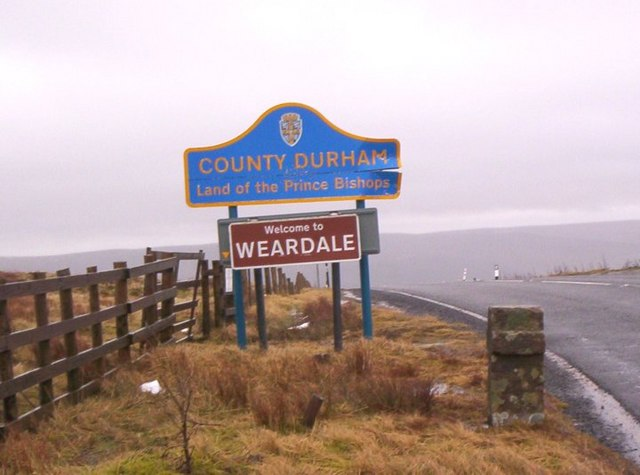 Durham County road sign