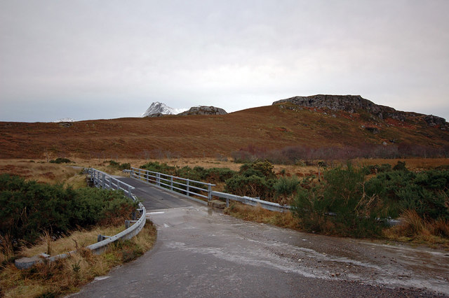 Road bridge over Allt Ach' an t-Srathain