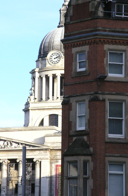 Nottingham Council House and Wheeler Gate