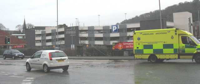 The new Menai multi-storey car park, off Garth Road