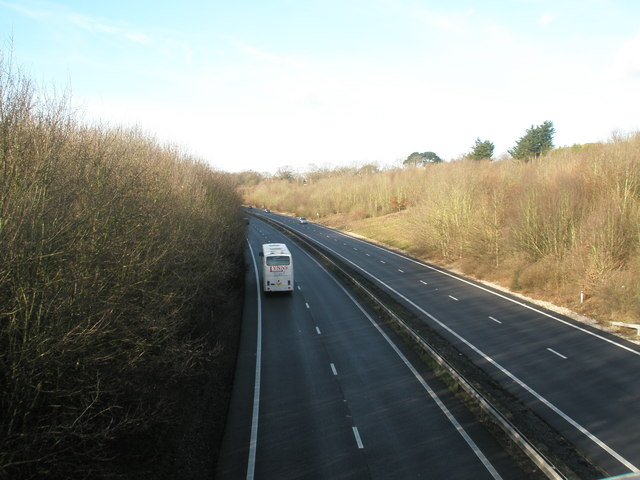 Looking west on the A27