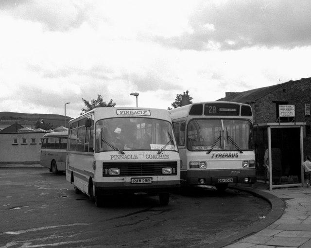 Waller Hill bus station, Skipton, Yorkshire