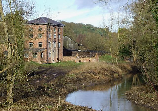 Smestow Brook at Greensforge Mill, Staffordshire