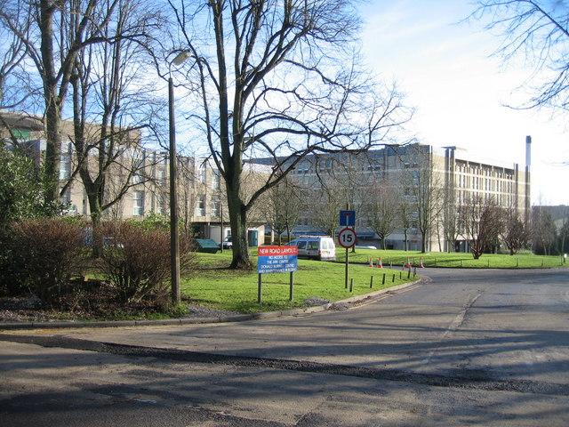 North view of North Hants Hospital