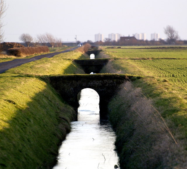 The view down Cherry Cobb Sands Roadside Drain