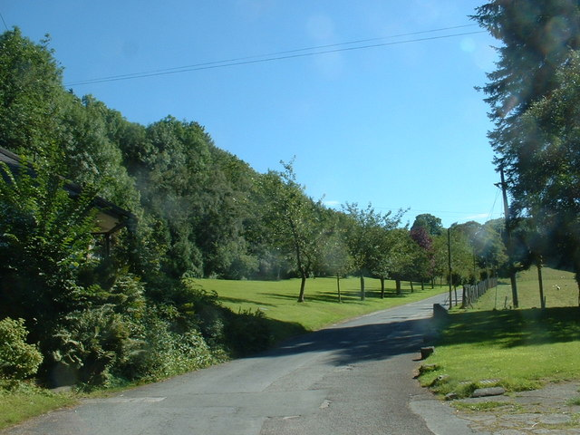 The lane to Colomendy Outdoor Centre