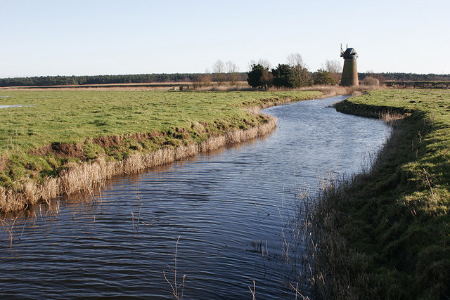 Dyke leading to Toft Monks Drainage Mill