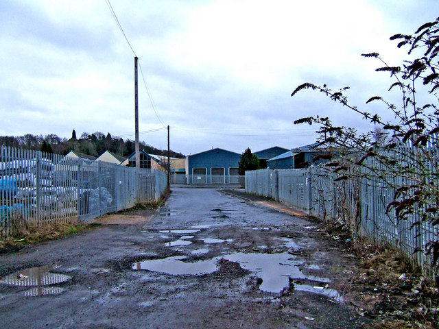 Small industrial estate near Wilden Pool